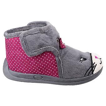 Mirak Childrens Girls Kitty Slippers