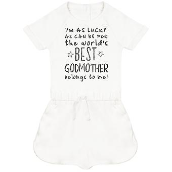 I'm As Lucky As Can Be Best GodMother belongs to me! Baby Playsuit