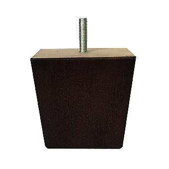 Brown wooden trapezoid Furniture Leg 8 cm (M8)