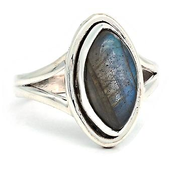 Ring Silver 925 Sterling Silver Labradorite Stone (Nr: IRM 188)