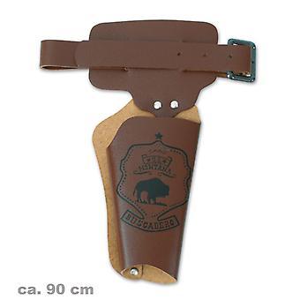 Revolver ceinture 90 cm cow-boy shérif du Far West accessoire