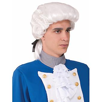 Deluxe Colonial Lawyer Judge Barrister French White Men Costume Wig
