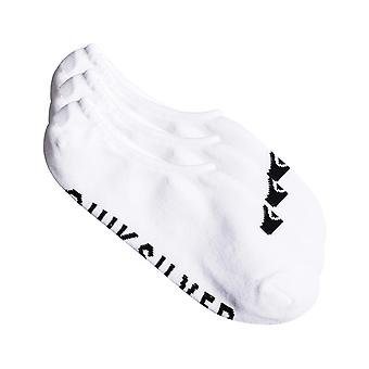 Quiksilver 3 Liner Pack No Show Socks in White