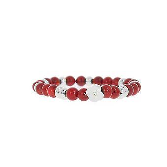 Les verwisselbare armband A58822-Pearl rode bloem vorm vrouwen