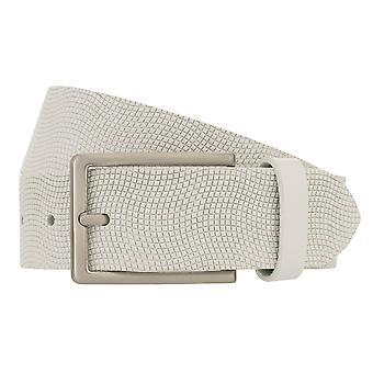MONTI SEATTLE Belt Men's Belt Leather Belt White 8491
