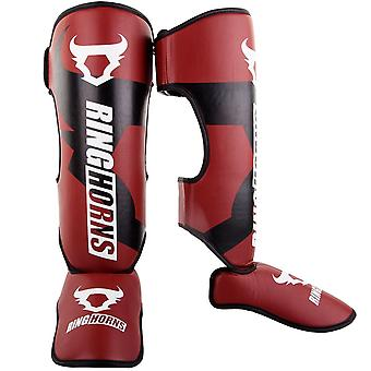 Ringhorns caricabatterie Shin/Instep Guards Red