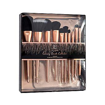 SOSUbySJ Luxury 10 Piece Makeup Brush Collection & Bag Gift Set
