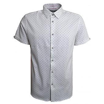 Тед Бейкер мужские белые Франко короткий рукав рубашки