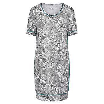 Rösch 1203215-15642 Damen's Pure Fineliner weiß Floral Nachthemd