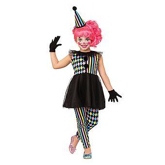 Bristol Novelty Children/Kids Quarter Sawn Clown Girl Costume