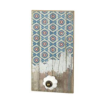 Rectangle Wooden Plaque With Knob