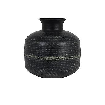 Light & Living Vase 35x37.5cm Roly Black-Antique Green