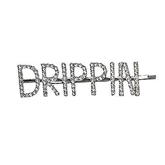 Hairpin with text - Drippin