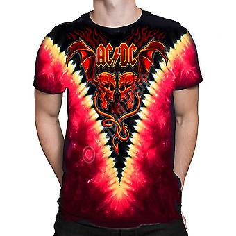 Liquid blue -  evil wings  ac/dc - short sleeve tie-dyed t-shirt
