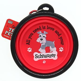 Wags & Whiskers Travel Pet Bowl - Schnauzer