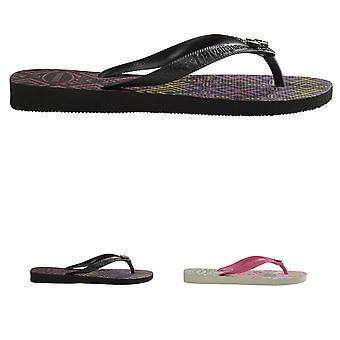 Womens Havaianas Garcia Lightweight Holiday Summer Toe Post Flip Flops