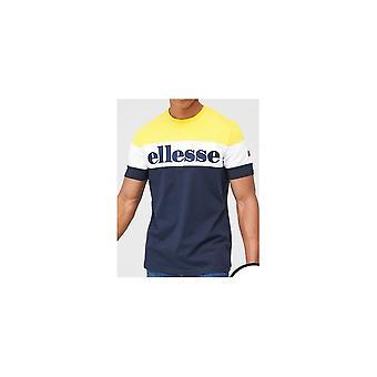 Ellesse Punto Navy/yellow Cotton T-shirt