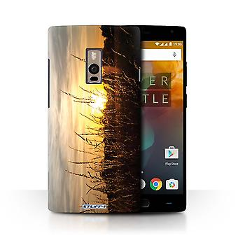 STUFF4 Case/Cover for OnePlus 2/Two/Barley Fields/Sunset Scenery