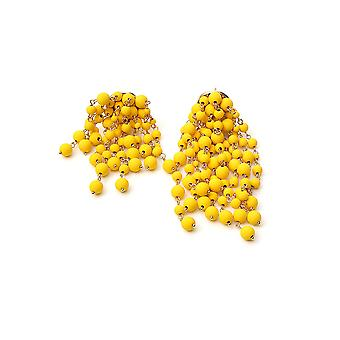Jacquemus 201jw1120187210 Women's Yellow Pvc Earrings