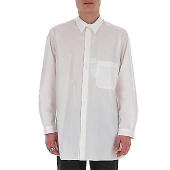 Yohji Yamamoto B420261 Men's White Cotton Shirt