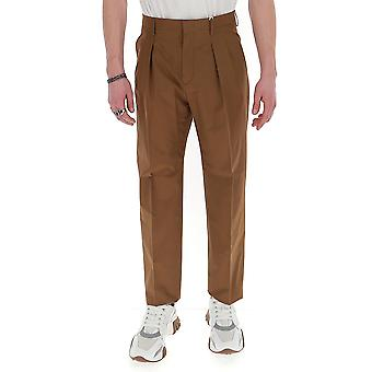 Valentino Tv0rgb304ww64m Men's Brown Cotton Pants