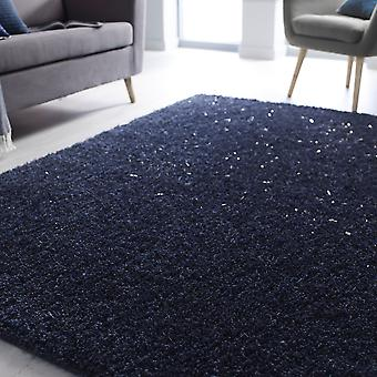 Veloce Shaggy Rugs In Blue