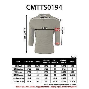 H2H Mens Versatile 3/4 Sleeve Versatile Henley T-Shirts Blue US L/Asia XL (CM...