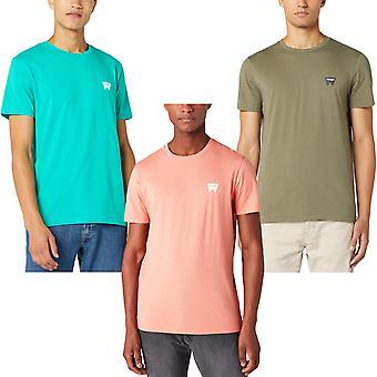 Wrangler Mens Sign Off Regular Fit Short Sleeve Casual Crew Neck T-Shirt Top Tee