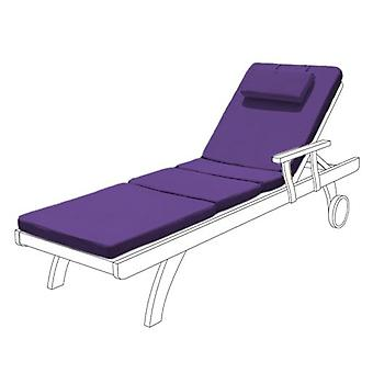 Gardenista Garden Sunlounger Replacement Pad | Sun lounger Recliner Patio Furniture Hypoallergenic Cushion | Water Resistant Fibre Filled | Durable Thick & Comfortable (Purple)