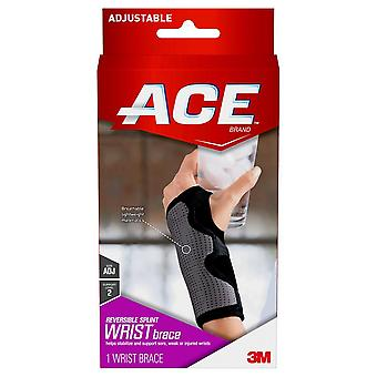 Ace reversible splint wrist brace, adjustable, gray, 1 ea