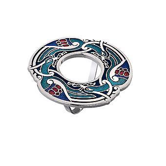 Celtic Birds Enamel Scarf Ring - Gift Boxed