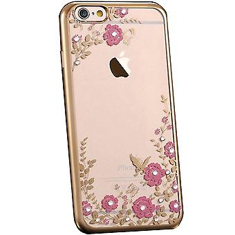 Flower bling  soft gel iphone xs max case
