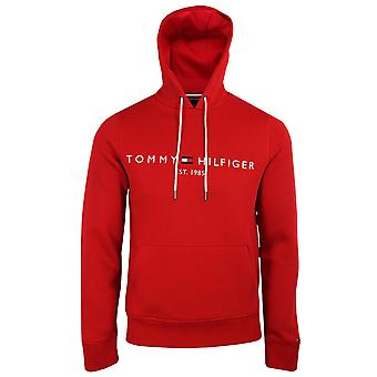 Tommy hilfiger men's primary red tommy logo hoody