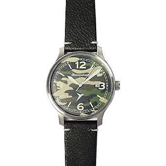 Aristo Men's Messerschmitt Watch Army ME-42A-LB Leather