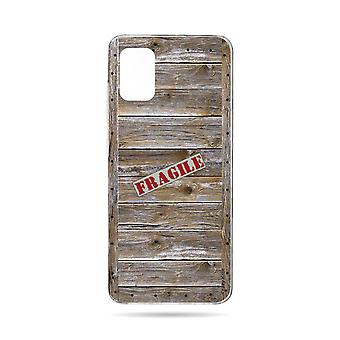 Hull For Samsung Galaxy A71 Soft Effect Wooden Box