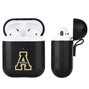 Appalachian State Mountaineers NCAA Fan Brander Black Leather AirPod Case