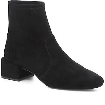 Jones Bootmaker Womens Eadie Suede Ankle Sock Boot