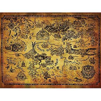 Zelda Hyrule Mapa Mapa Płótno Płyta 60 * 80cm