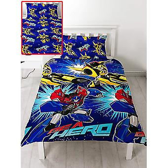 Transformers Hero Funda de un solo edredo y pillowcase Set