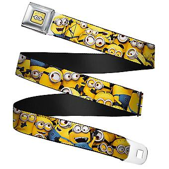 Minions Personagens Full Color Webbing Cinto de Fivela do Cinto de Fivela