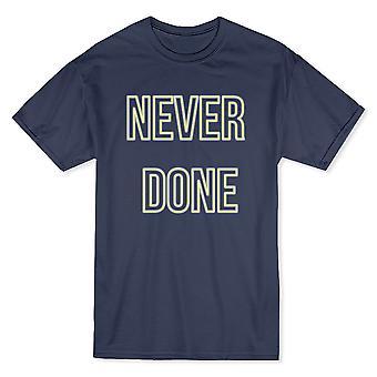 «Jamais fait» délimité polices moyennes avant texte T-shirt homme