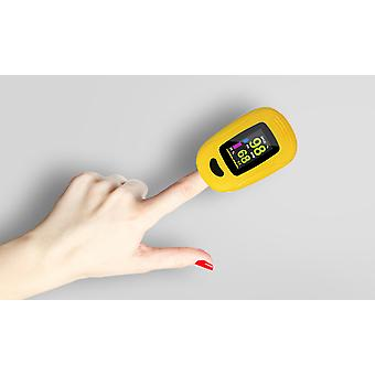 Fingertip Pulse Oximeter Sp02 - Yellow