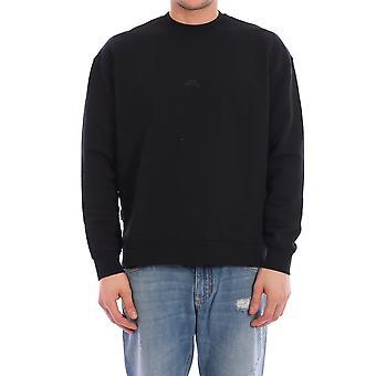 En kall vägg Acwmw001whlblak Män's Black Cotton Sweatshirt