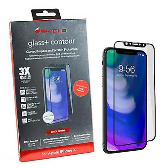ZAGG InvisibleShield Glass+ Contour Screen Protector pour iPhone X / XS