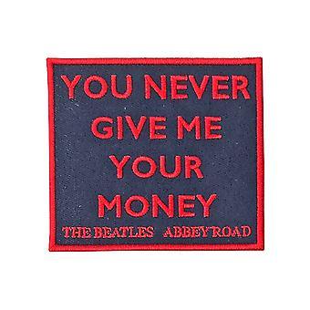 The Beatles patch your koskaan anna minulle Money Abbey Road Song uusi virallinen