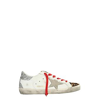 Golden Goose Gwf00102f00022480244 Women's White Leather Sneakers