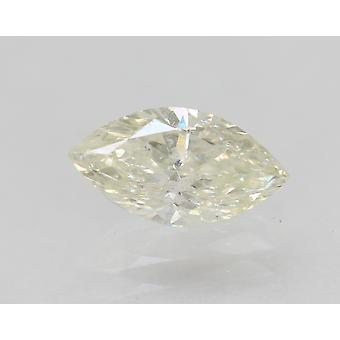 Certified 0.64 Carat H SI1 Marquise Enhanced Natural Diamond 8.27x4.39mm 2VG