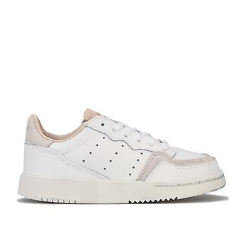 Pige's adidas Originals Børn Supercourt Trænere i hvid