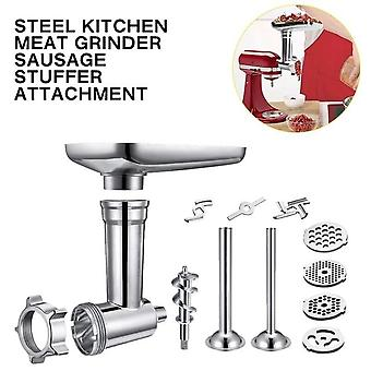 Steel Kitchen Meat Grinders Sausage Stuffer Attachment For Kitchen Aid Stand Mixer Kitchen Appliances Kitchen Dining