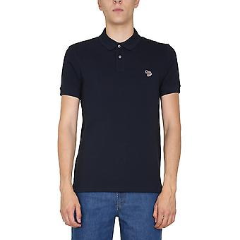 Ps By Paul Smith M2r534lazebra49 Men's Blue Cotton Polo Shirt
